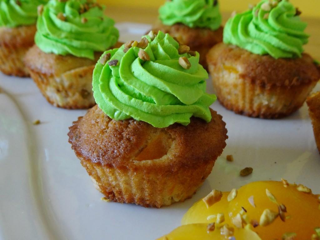 cupcakes abricot pistache