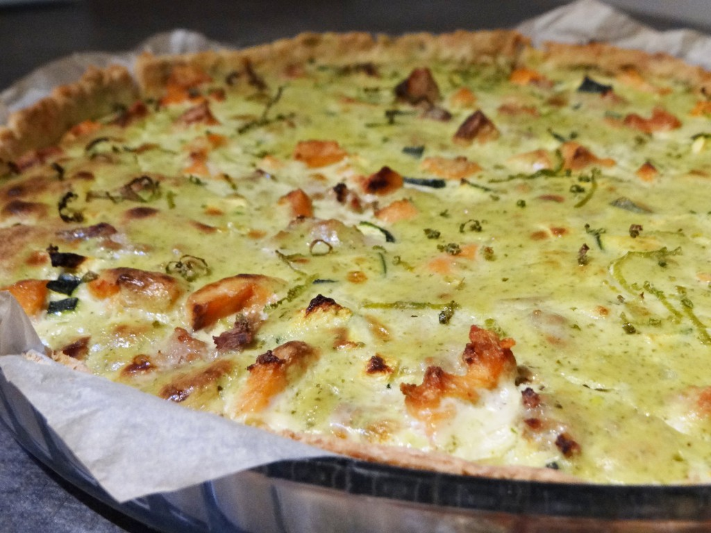 tarte saumon pesto