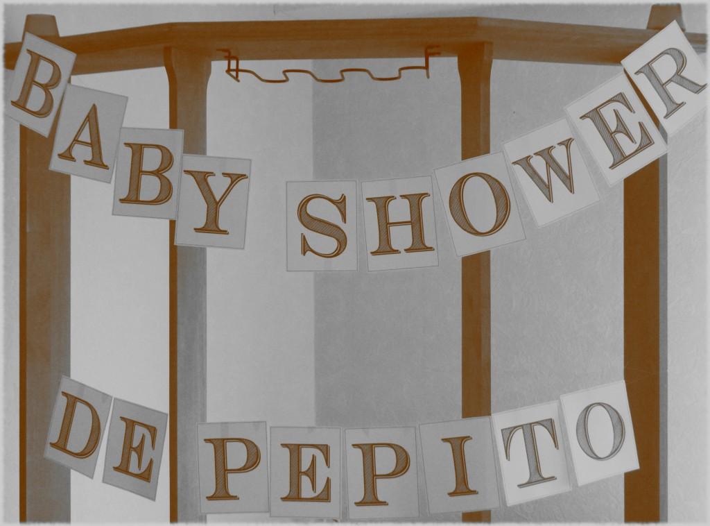 babyshower sepia